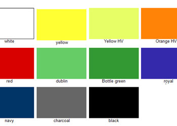 Colour card of waterproof fabric